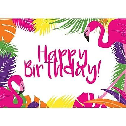 idealWigsNet Cartel de Feliz cumpleaños de Flamenco Tropical ...