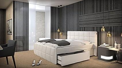 Letti Di Lusso In Pelle : Sofa dreams letto berlino bianco pelle artificiale letto di lusso