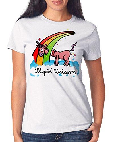 Stupid Unicorn T-Shirt Girls White Certified Freak
