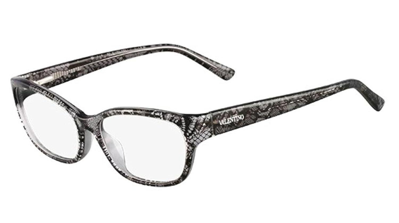 VALENTINO Eyeglasses V2606 032 Grey Lace 53MM at Amazon Men\'s ...