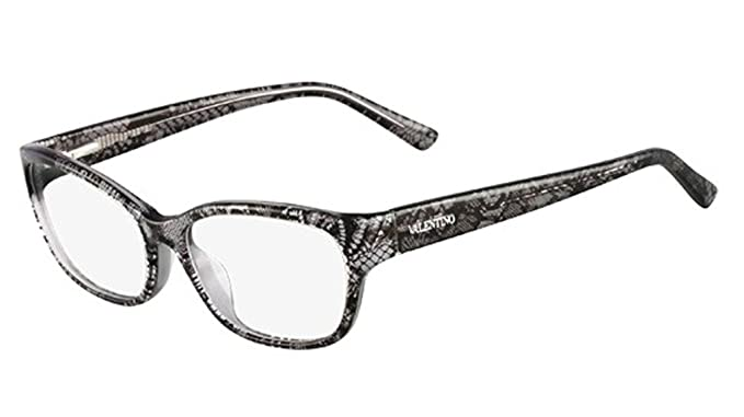 VALENTINO Eyeglasses V2606 032 Grey Lace 53MM at Amazon Men\'s ...