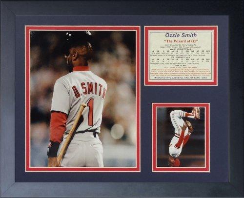 """Legenden Sterben Nie """", Ozzie Smith Final bei Fledermaus"""" gerahmtes Foto Collage, 11 x 35,6 cm von Legends Never Die"""