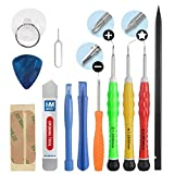 13  in 1 Complete Premium Repair Opening Tool Kit Screwdriver set for iPhone 4 / 4S / 5 / 5C / 5S / 6 / 6 Plus  / 6S / iPad 4 / 3 /2 / Mini, Air Samsung S5 S6 S7 Nokia Motorola Huawei Sony HTC