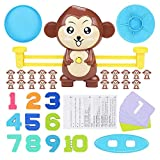 Volwco Monkey Balance Math Game, 64 Piece STEM Learning Toy to Learn Counting Numbers and Basic Math, Educational Toy Gift for Boys and Girls Ages 3+