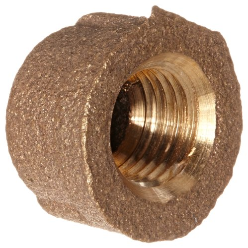 Brs Pipe Cap - Anderson Metals 38108 Red Brass Pipe Fitting, Cap, 1/4