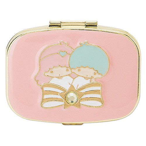 Sanrio Little Twin Stars mirror with a small case Stone From Japan New