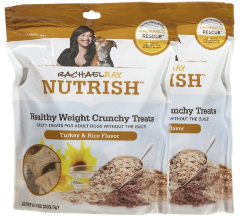 Rachael Ray Healthy Weight Turkey & Rice Dog Treats, 10-oz 2 Pack