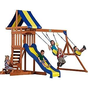 Backyard Discovery Providence All Cedar Wood Playset Swing Set