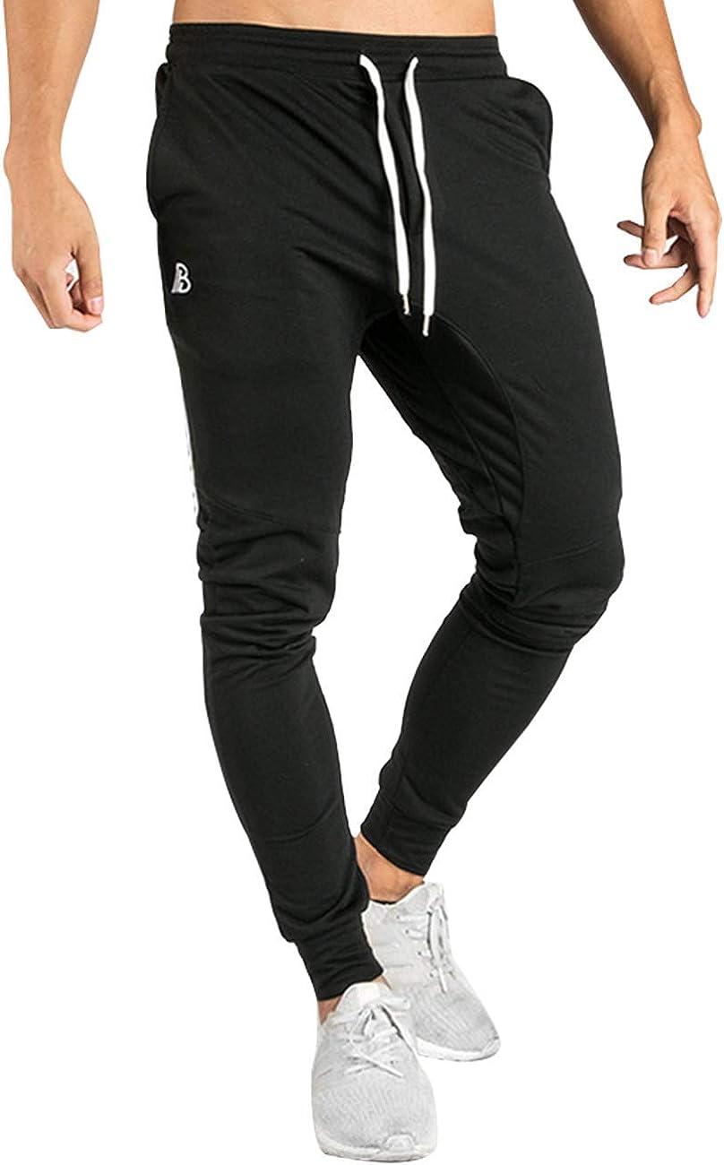 HEFASDM Mens Athletic Fit Striped Corduroy Casual Plus-Size Jogger Pants