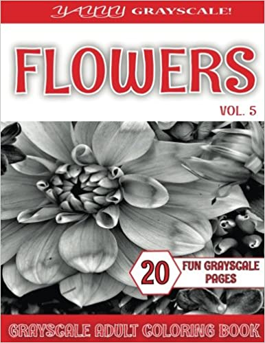 flower coloring book for adults vol 5 volume 5