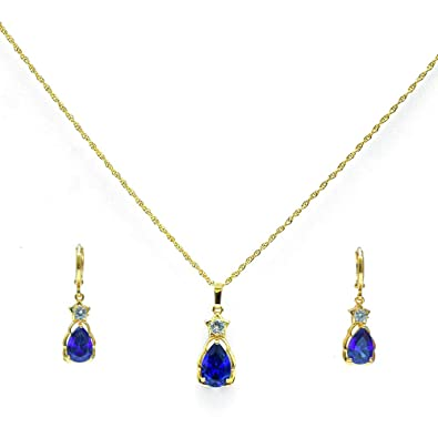 Buy Blue Stone Necklace With Earrings Online At Low Prices In