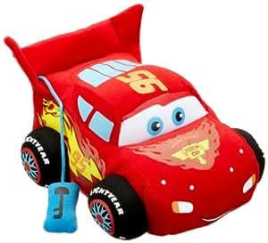 Disney Cars 2 1000431 Lightning McQueen - Coche de peluche con sonido y movimiento, 25 cm [importado de Alemania]
