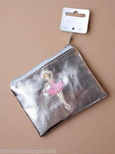 ALANNAHS ACCESSORIES Girls Shiny Fairy Tinkerbell Zip Purse Birthday Party Bag Gift