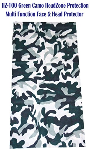 HeadZone Multi Functional Face and Head Protection (Green Camo)