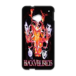 Personlised Printed Black Veil Brides Phone Case For HTC One M7 LC3K02292