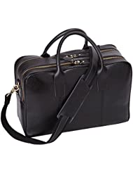 Leathario Mens Leather Briefcase Shoulder Messenger Laptop Bag Business Bag