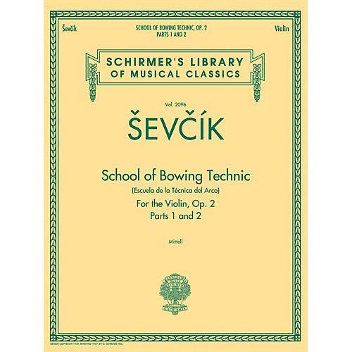 School of Bowing Technics, Op. 2, Parts 1 2 String Method Series Softcover Pack of - Method Softcover