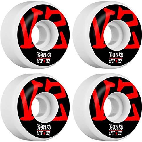 セットアップ Bones 53mm Wheels V2 STF V2 Annuals (4個セット) ホワイトスケートボードホイール - 53mm 103a (4個セット) B07JHKWPSS, 株式会社171:c1e54a1b --- mvd.ee