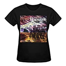Fields Of The Nephilim From Gehenna To Here Tour T Shirts For Women 2016 Round Neck Black