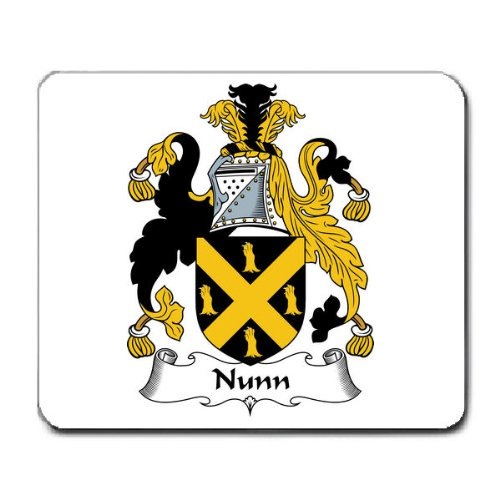 Nunn Family Crest Coat of Arms Mouse Pad Coat Pad