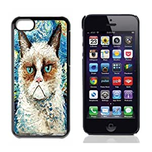 Grumpy Cat Hard Plastic and Aluminum Back Case For Apple iphone 5C With 3 Pieces Screen Protectors