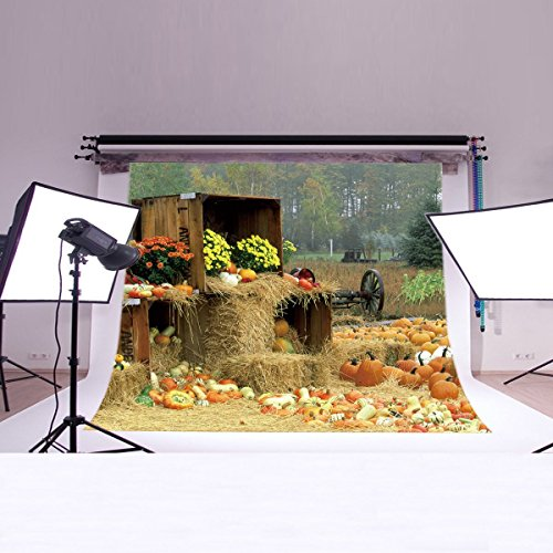 LB 7X5ft Halloween Gift Poly Fabric Photography Background Customized Photography Backdrop Studio Prop (Halloween Photo Background Ideas)
