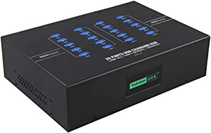 Sipolar Well Work 20 Port Industrial USB 3.0 Hub Charger for iPhone/iPad/Cellphone with Box Shape Speed Up to 5Gbps Notice:Voltage is 110V