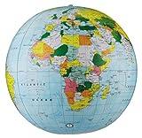 Replogle Inflatable Globe, Political Globe, Light Blue, 24''