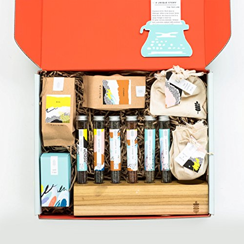 The Ultimate Tea Mixology Box Gift Set for the Tea Enthusiast- A Collection of Loose Leaf Teas, Aromatics & Accessories for Blending Infusing & Straining Custom Blended Teas- a Thoughtfully Gift Box