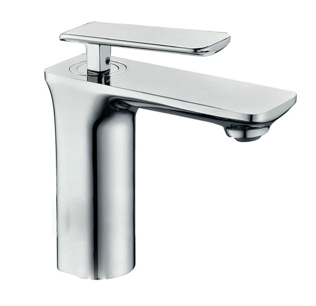 MDRW-Square electroplating water tap, all copper lead-free single hole basin faucet