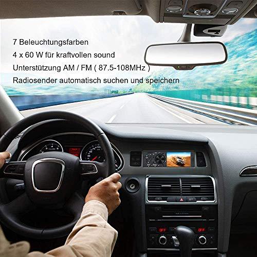 bedee Autoradio mit Bluetooth Freisprecheinrichtung, 1 Din Bluetooth Autoradio mit 7 Farben Licht Einstellbar, 4.1\