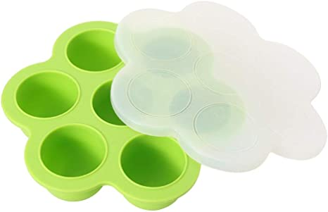 7 Holes With Lid Food Box Silicone Egg Bites Mold For Instant Pot Accessories