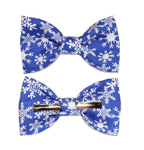 Toddler Boy 4T 5T Blue/White Snowflakes Clip On Cotton Bow Tie Bowtie
