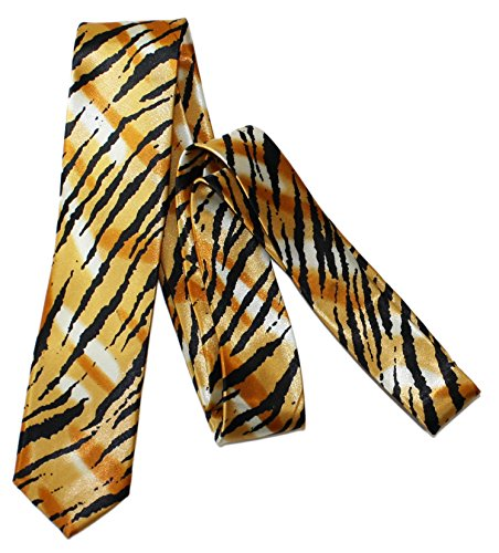 Ted and Jack - Say It With Style Novelty Tie - Tiger Stripe Print ()