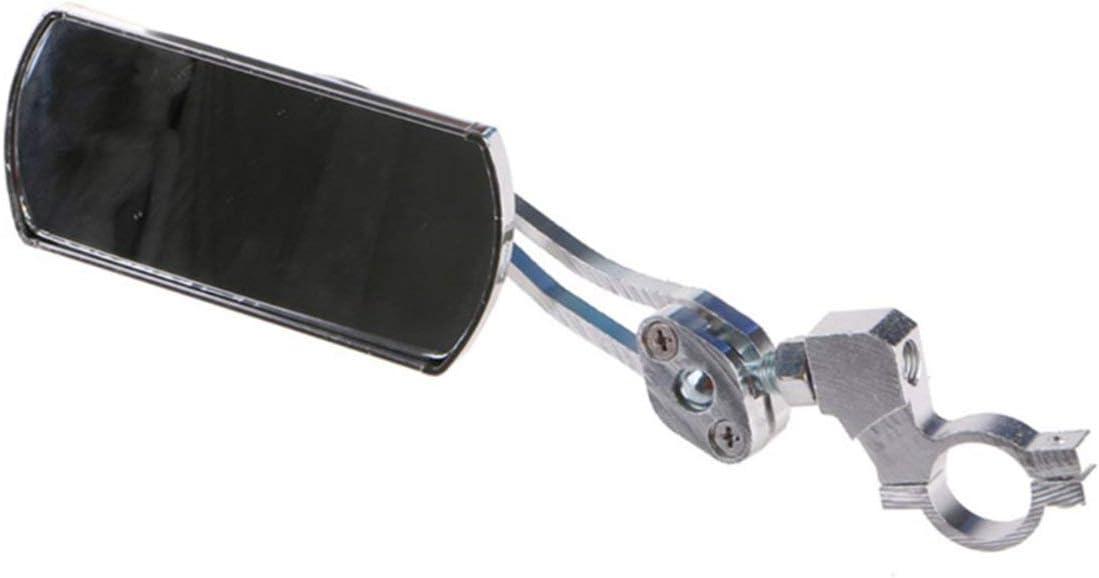 Heaviesk Radfahren Fahrrad R/ückspiegel Lenkerhalterung 360 /° drehbarer Aluminium-Sicherheitsr/ückspiegel f/ür Fahrradmotorr/äder