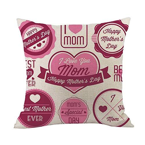 - 2019 EOWEO Happy Mothers' Day Sofa Bed Home Decoration Festival Pillow Case Cushion Cover(45cm×45cm,Multicolor-J)