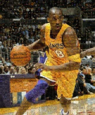 Poster Mural Kobe Bryant Lakers BasketballChoose Your SizeCanvas