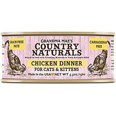 Grandma Mae'S 79700183 5.5 Oz Grain Free Chicken Dinner Cat Food (24 Pack), One Size