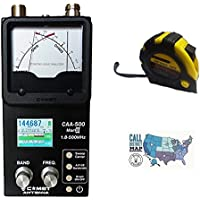 Bundle - 3 Items - Includes Comet CAA-500MARKII HF/VHF/UHF SWR/Impedance Analyzer with the New Radiowavz Antenna Tape (2m - 30m) and HAM Guides Quick Reference Card