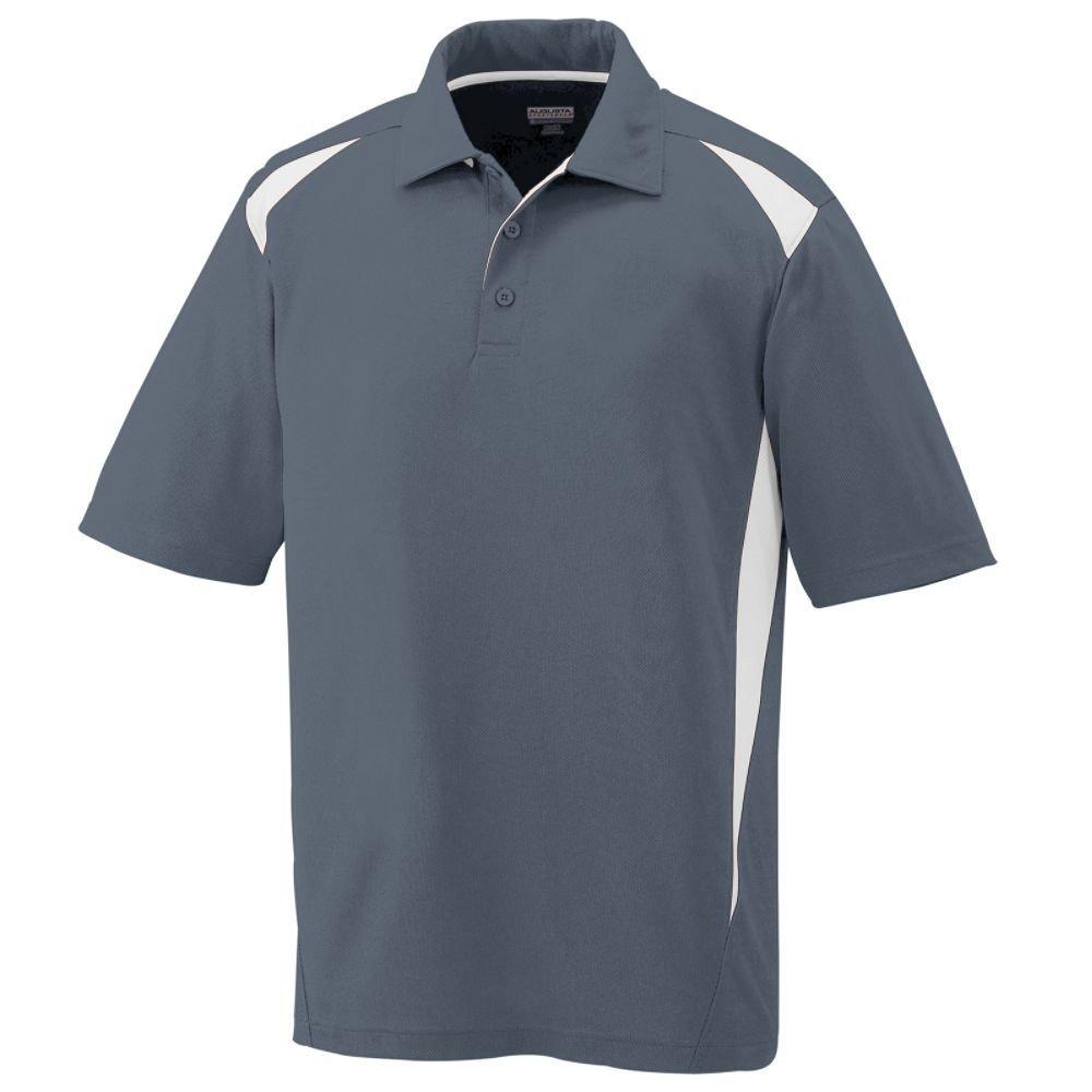 Augusta Sportswearメンズプレミアスポーツシャツ B00E1YS1AW Medium|グレー/ホワイト グレー/ホワイト Medium