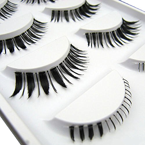 Sanwood® 5 Pairs Soft Long Thick False Eyelashes Extension Special Upper Lower Eye Lash (4)