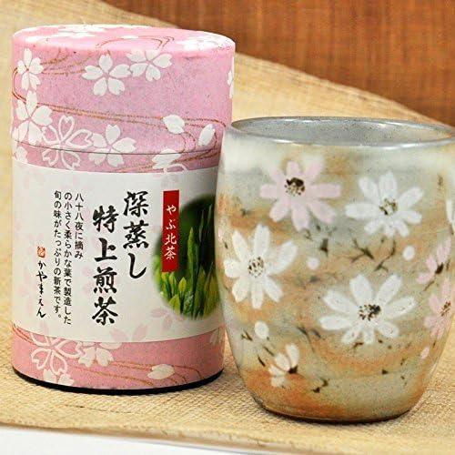 通常贈答 ギフト 煎茶80g と 秋桜 湯呑み セット(通常贈答) 誕生日 プレゼント
