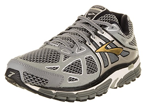 Brooks Men's Beast 14 Running Shoes (11 EE - Wide, Silver/Black/Gold)