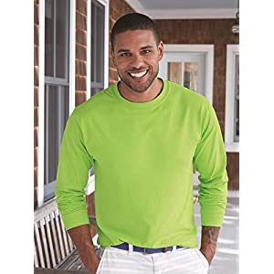 Hanes Mens Tagless 100% Cotton Long Sleeve T-Shirt