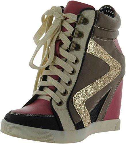 Donne Di Bambù Jodie-01 Moda-scarpe Da Ginnastica Fucsia Multi