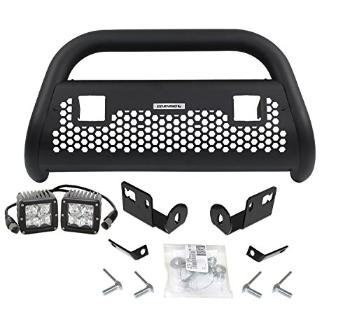 Go Rhino 55522T RC2 LR Textured Black Front Guard for Toyota (Complete Kit: Front Guard+Brackets, RHINO! Charger 2) - Go Rhino Brackets