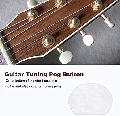 Dilwe Botón de Clavija de Afinación de Guitarra, 6 PCS/Set Tuning ...
