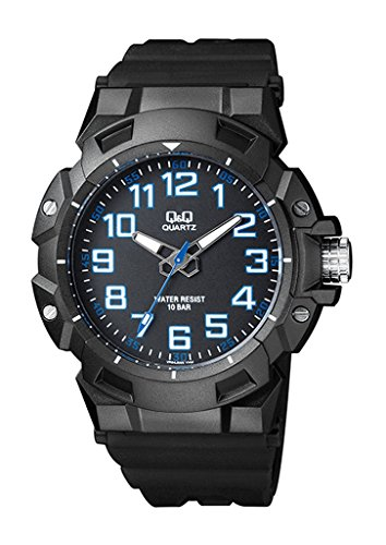 Q&Q Mens Stylish Sporty Water Resistant Watches