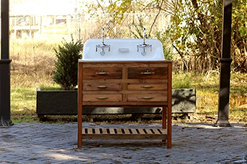 """Reclaimed Wood 36"""" Trough Sink Kohler Farm Sink Apothecary for sale  Delivered anywhere in USA"""