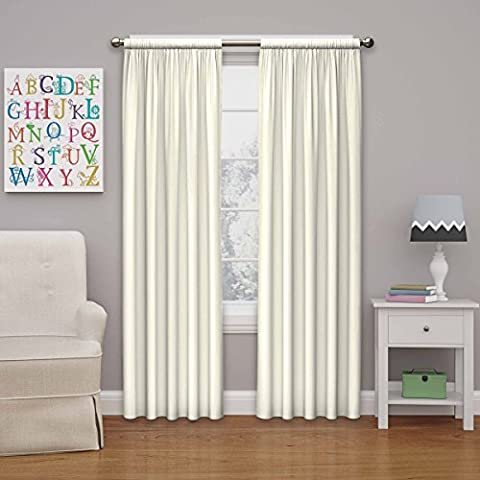 Eclipse Kids Microfiber Room Darkening Window Curtain Panel, 42x63